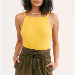 NWT Free People Set It Up Tank Top Poppy Gold